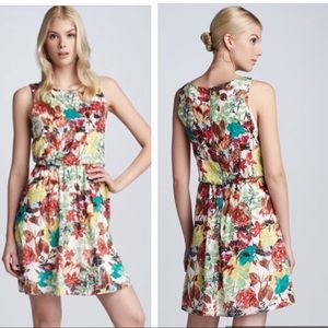 Alice + Olivia colorful floral silk summer dress